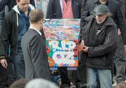 Böyle olu grafiti sanatçısının cenazesi