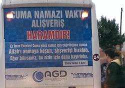 Otobüslerde dikkat çeken reklam: