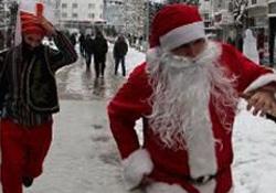 Noel Baba'yı böyle kovaladılar