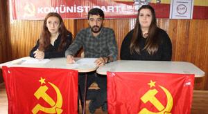 Komünistlere Erdoğan yasağı