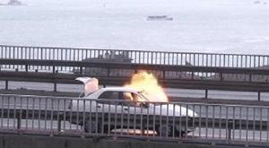 Boğaziçi Köprüsü'nde trafik durduruldu