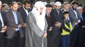 Mekke imamı Ayasofya önünde