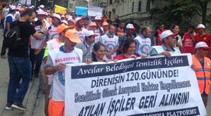 İşçilerden CHP önünde eylem