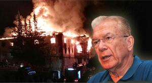 Yangın söndürme tüpleri bir gün önce...