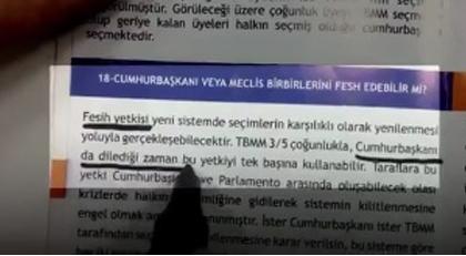 Erdoğan'ın o sözlerini AKP'nin referandum kitapçığı yalanladı