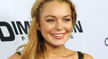 Lindsay Lohan'dan haşemalı poz