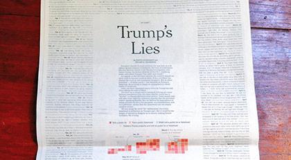"""Trump'ın yalanları""na kağıt yetmedi"