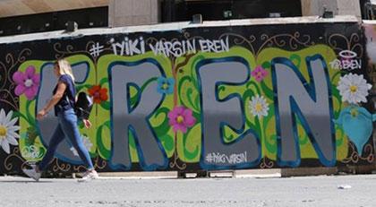 'İyi ki varsın Eren' grafitisi