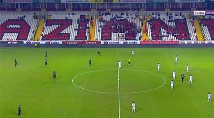 Gaziantepsporlu futbolculardan maçta eylem