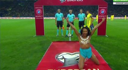 FEMEN'den milli maçtan önce Erdoğan protestosu