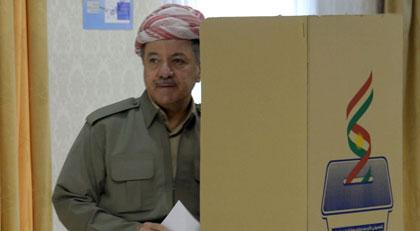 Barzani böyle oy kullandı