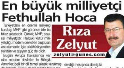 Fethullah Gülen'i övdüğüm yazı mizah yazısıdır