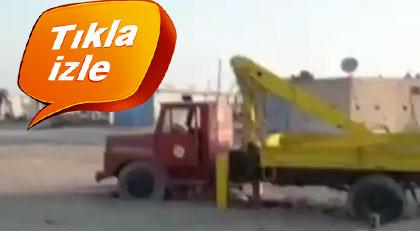 """Belediyenin """"montaj"""" dediği kamyonun videosu çıktı"""