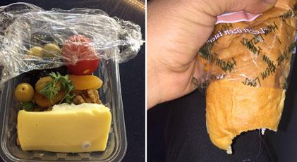 Bakın tren yolcularına neler yediriyorlar