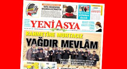 Gazete manşetinden yağmur duası