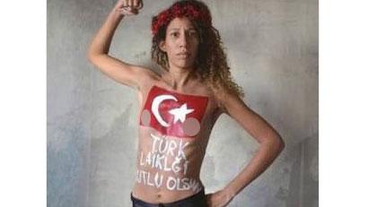 FEMEN'den laiklik mesajı
