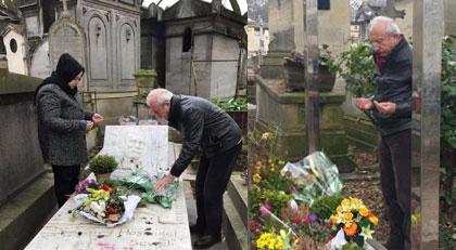 Ahmet Kaya ve Yılmaz Güney'in mezarında bir AKP'li