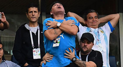 FIFA'dan Maradona'ya kınama