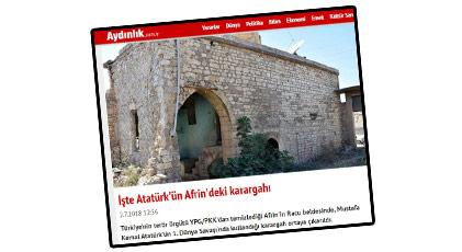 """""""Mustafa Kemal'in Afrin'de evi var"""" haberlerinin altında ne var"""
