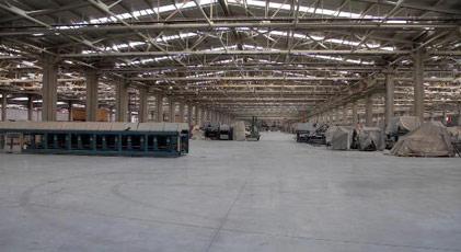 Dev fabrikada üretim durduruldu