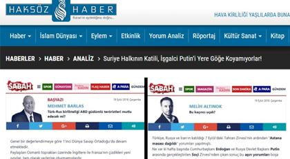 Akitçi'nin sitesi Sabah'ı Rusçu ilan etti