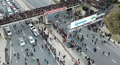 İstanbul bugün böyleydi