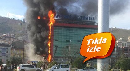 Öğrenciler dersteyken yanmaya başladı