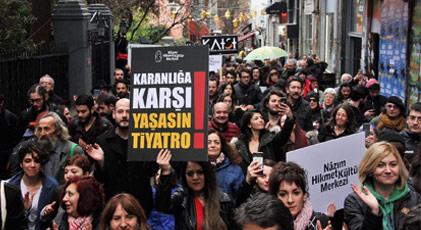 Dünya Tiyatro Günü Yürüyüşü'ne engelleme