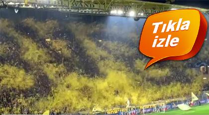 Dortmund taraftarından izleyenleri etkileyen maç kareografisi