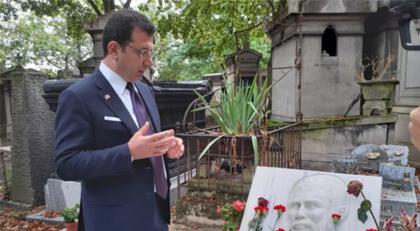 İmamoğlu'ndan Paris'te mezarlık ziyareti