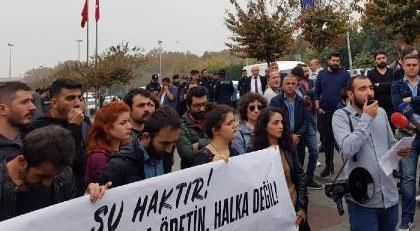 Seçimlerde İmamoğlu'nu destekleyen sol grup bugün protesto etti