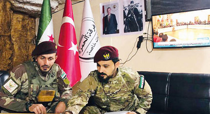 Özgür Suriye Ordusu'nda Atatürk posteri