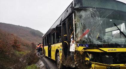İETT otobüsü devrildi: 1 ölü
