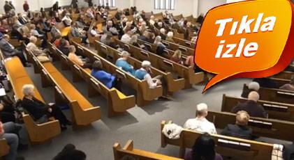 Kilisedeki saldırı kamerada