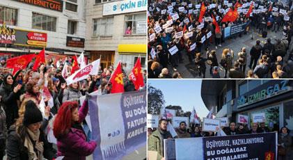 Üç ilde doğalgaz protestosu