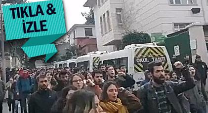 Arkadaşlarını anmak isteyen öğrencilere polis engeli