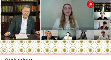 Erdoğan o soruya yanıt verdi öğrenciler tepki gösterdi