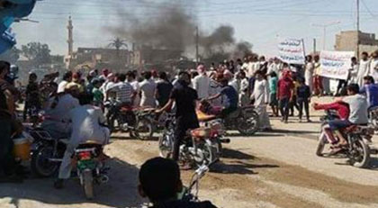 Suriyeliler PKK'yı böyle protesto etti