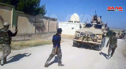 Suriye ordusu ABD askerlerinin önünü kesti