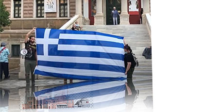 Yunanistan'da Ayasofya protestosu