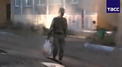 Casus askerin yakalanma anı kamerada