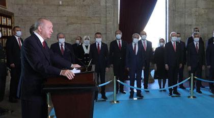 Erdoğan Anıtkabir defterine ne yazdı
