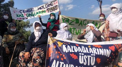 Halk Kaz Dağları'ndaki madene böyle karşı çıktı