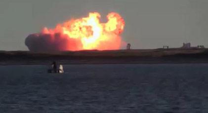 Musk'ın roketi testte patladı ama...