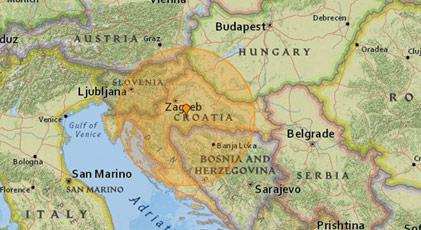 Hırvatistan'da 6,4 şiddetinde deprem