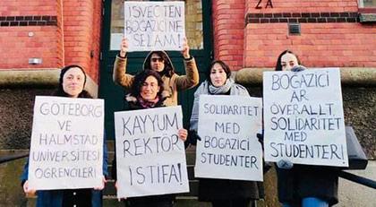 """İsveç Üniversiteleri de """"yüreğimiz sizinle"""" dedi"""