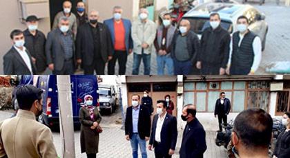 İYİ Parti'den MHP'ye siyasetçilerinden karantinadaki köye ziyaret