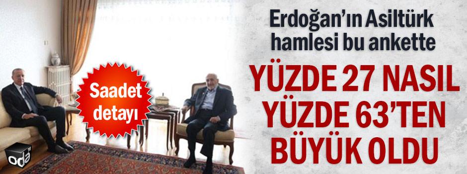 Erdoğan'ın Asiltürk hamlesi bu ankette: Yüzde 27 nasıl yüzde 63'ten büyük oldu