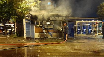 İBB açıkladı: Halk ekmek büfesi yakıldı