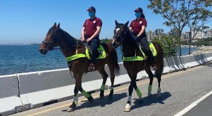 Atlı polisler İstanbul denetiminde